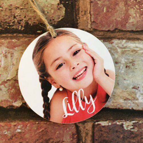 Personalised Child Baby Christmas Bauble Photo Gift Baby/'s 1st Christmas Gift