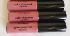 3 LAURA GELLER LIP GLOSS COLOR DRENCHED CAFE AU LAIT NEW
