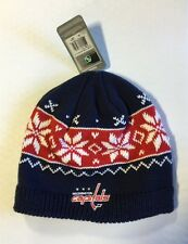 Washington Capitals Knit Beanie Toque Winter Hat Skull Cap NEW Womens snowflake