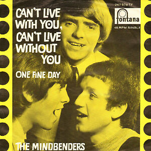 MINDBENDERS-Can-039-t-Live-With-You-RARE-1966-VIYL-SINGLE-7-034-DUTCH-PS