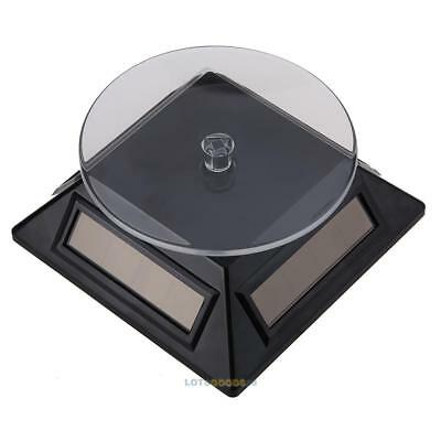 Solar 360° Drehteller Turntable Showcase Schmuck Uhr Ständer Halterung Halter