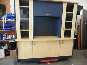 OFFICE-CREDENZA-amp-HUTCH-YOUNG-BEECH-BLUE-BRISBANE