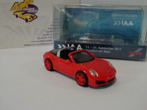 "Herpa 928236 in rot  /"" IAA Frankfurt 2017 /"" 1:87 Porsche 911 Targa 4 991"