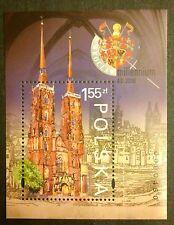 POLAND STAMPS MNH Fibl130(172) Sc3525 Mibl141 block - Wroclaw, 2000, clean