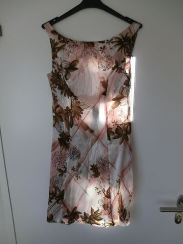braun Sonia Damen Fortuna Firenze Geblümt Kleid Weiß rose BBgAqw