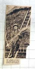 1937 Mr J Brooks, 79-year-old Bradford-on-avon Magistrate, Thatching