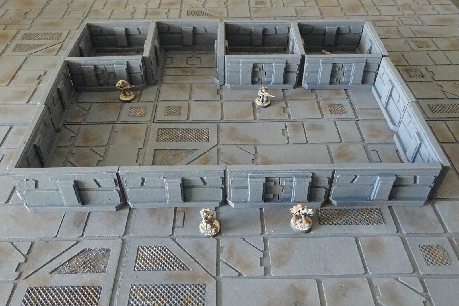 Wargame scenery - Sci Fi Walls set x 20 - Set 1 pieces Corridor