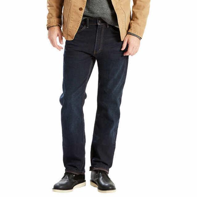 Levi's 505 Regular Fit Stretch Jeans Men's, Dark Wash, 34x30