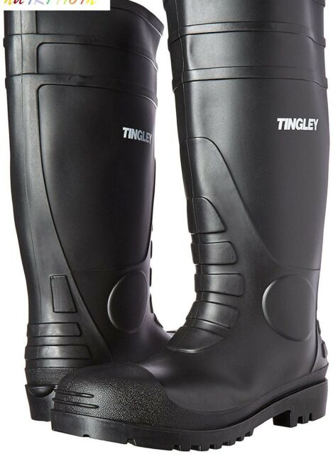 Tingley Rubber Black Economy PVC Knee BOOTS Size 13 081138311831 for sale online