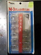 Vintage Camera FLASH BULBS M3 10 Clear Bulbs FOCAL Kmart
