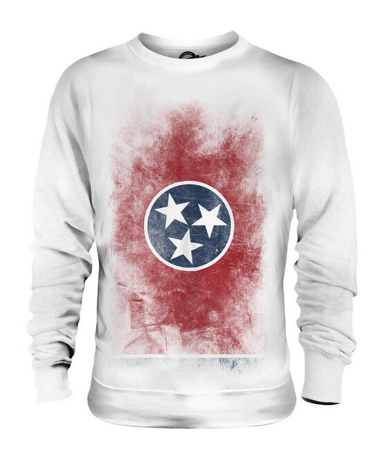 TENNESSEE STATE FADED FLAG UNISEX SWEATER TOP TENNESSEAN SHIRT JERSEY GIFT
