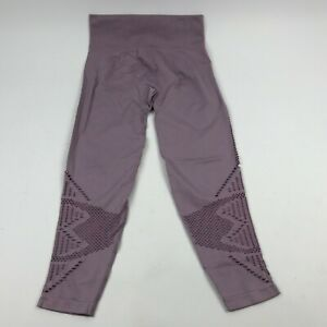 VICTORIA-039-S-SECRET-Pink-COOL-amp-COMFY-Lavender-Cropped-Leggings-M-Stretchy-Cut-Out