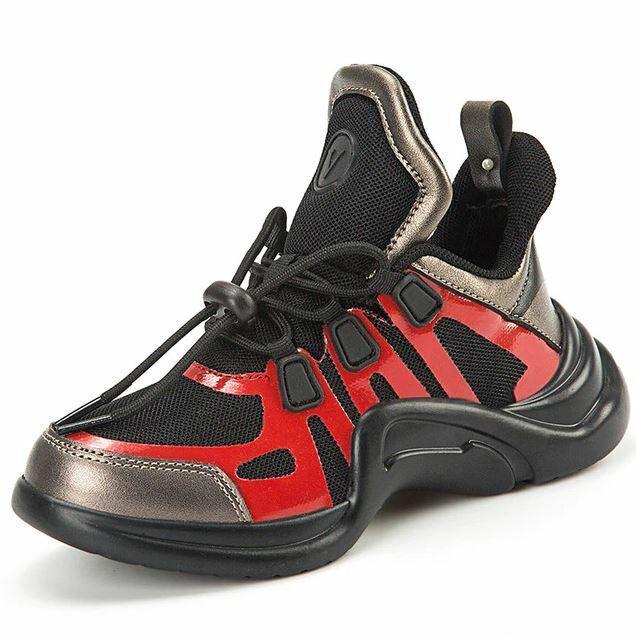 Zapatillas de deporte para niñas Zapatos transpirables casuales Zapato de moda