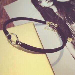 Newest-Gothic-Black-Velvet-Retro-Annular-Choker-Necklace-Charm-Handmade-Pendant