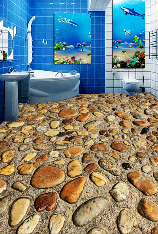 3D Clean Stone Road 436 Floor WallPaper Murals Wallpaper Mural Print AJ AU Lemon