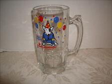 Spuds Mackenzie Budweiser Bud Light Large Glass Beer Mug Stein Party Animal 1987