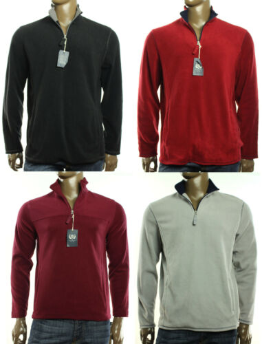 NEW MENS CLUB ROOM CLASSIC FLEECE HALF ZIP PULLOVER SWEATER SWEATSHIRT