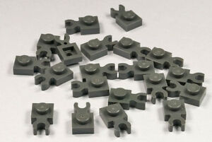 50x LEGO® 1x1 Platten mit Clip neu-dunkelgrau 4085a 4085b 4085c 4085d