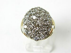 Vintage-14k-Yellow-Gold-Natural-2-75ctw-Diamond-Cocktail-Cluster-Ring-11-9g