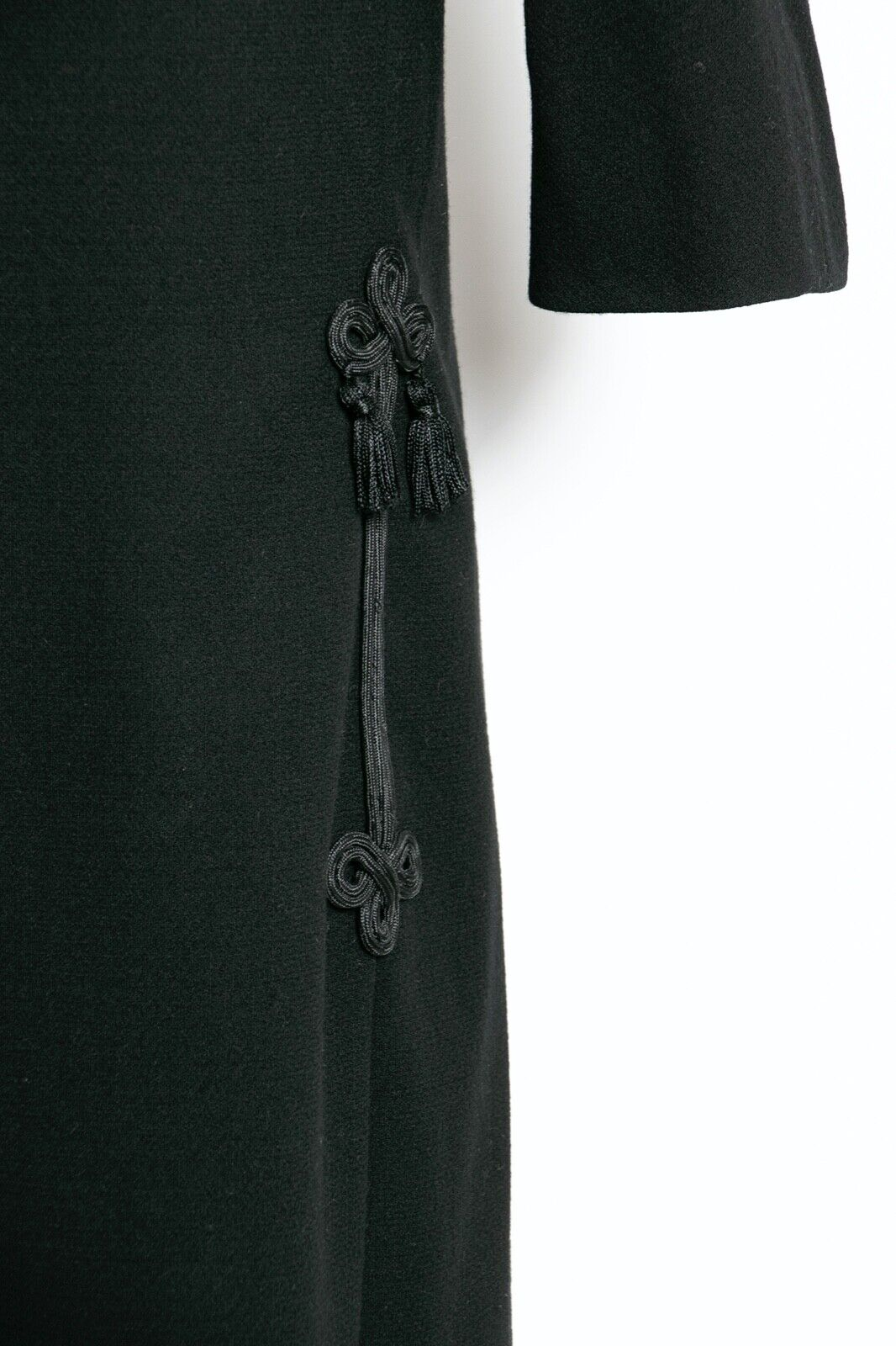 HARVEY BERIN 1960s Dress Black Wool Large - image 6