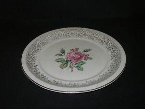 Image is loading Georgian-China-Cornish-Rose-Pink-Plate-Dinner-10- & Georgian China Cornish Rose Pink Plate Dinner 10\