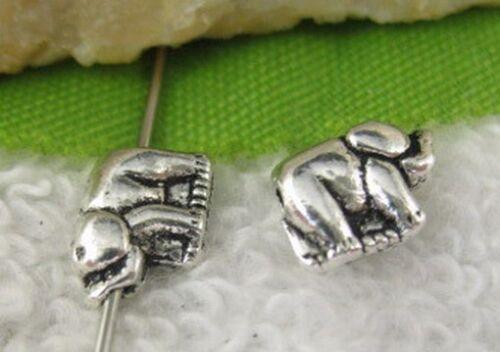 200pcs Tibetan silver elephant spacer beads FC10574