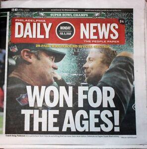 Philadelphia Daily News 2 5 18 Eagles Super Bowl 52 Champions ... 73eb9adcd