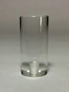 "Lamp Finial-TRANSITIONAL ACRYLIC CYLINDER 2/"" Ht CLEAR"