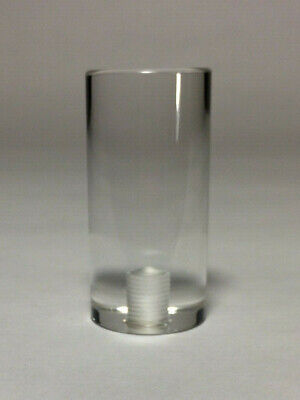 """Lamp Finial-TRANSITIONAL ACRYLIC CYLINDER 1-1//2/"""" Ht CLEAR"""