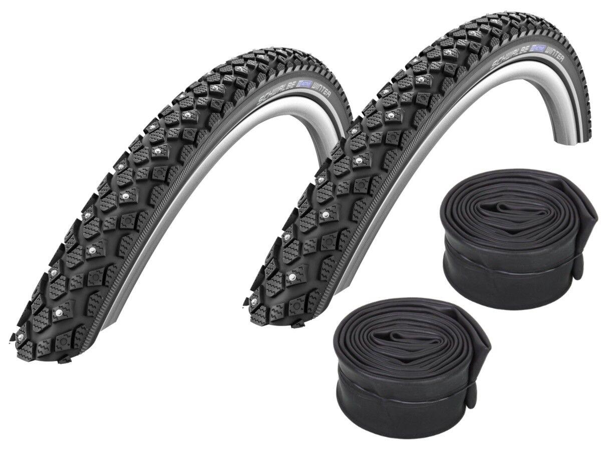 2 x Schwalbe Winter Spike-Reifen    16  18  26  28  (alle Größen) + Schläuche