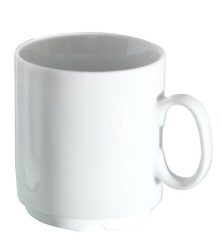 24er SET Porcelaine Tasse professionnel 280 ml Blanc empilable tasse Tasse Pott
