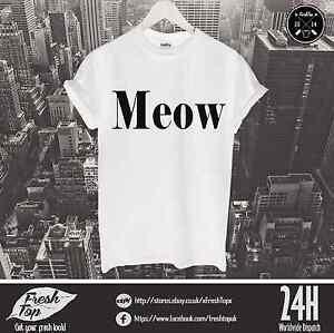 Meow-T-Shirt-Feline-Yo-Go-Glen-Coco-Celine-Crazy-Cat-Lady-Kitten-Kitty-Grumpy