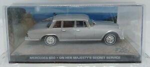 Diecast-1-43-James-Bond-007-Mercedes-600-plata-en-el-servicio-secreto-de-Su-Majestad
