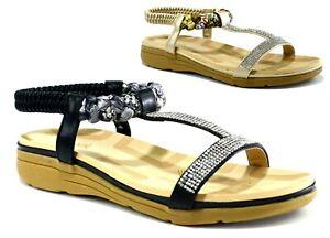 Ladies-New-Casual-Formal-Open-Toe-Wedge-Heel-Strappy-Women-Sandal-UK-Size-3-8
