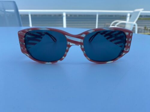 Alain Mikli Orange Striped Sunglasses 309173 Fran… - image 1