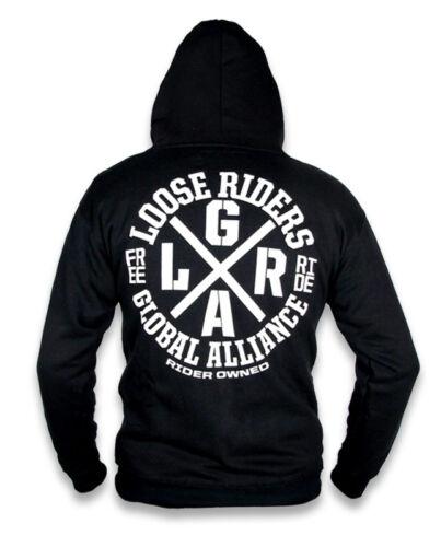 Loose Riders Uomo Alliance con cappuccio Pullover Biker Rockabilly Style TATTOO