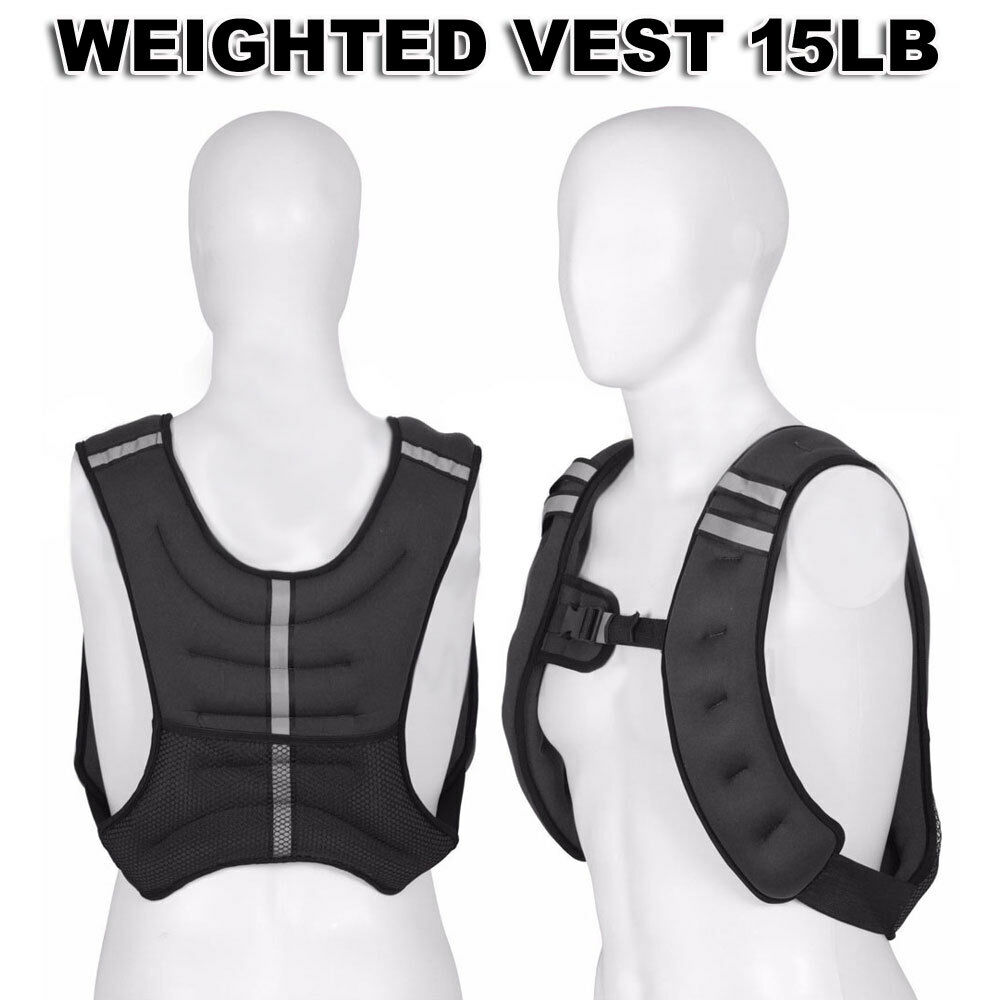 Workout Weight 15LB Pro Weighted Vest Exercise Training Fitness Adjustable  Strap  comfortably