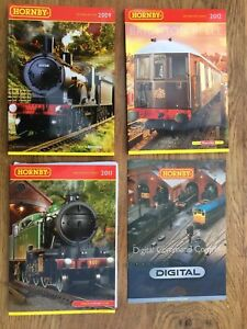 4-x-A4-HORNBY-Model-Railway-colour-catalogues-2009-2011-2012-amp-DCC-Brochure