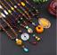 Lange-Halskette-Nepal-Boho-Anhaenger-Retro-Vintage-Holz-Handgefertigt-Perlen Indexbild 2