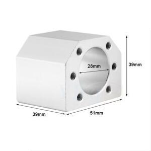 CNC-Ball-Nut-Housing-Bracket-Mount-28mm-For-SFU1604-1605-1610-Ball-Screw-Nut-zg