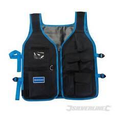 New Silverline Lightweight Adjustable Hands Free Tool Carrier Jacket