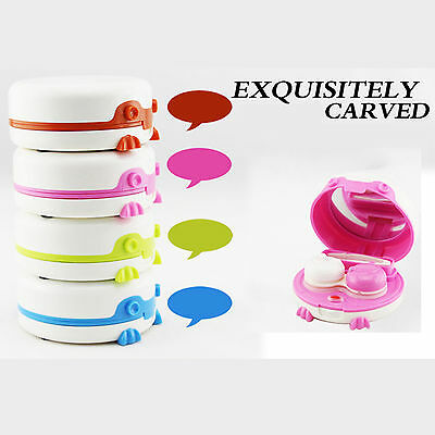 Electric Auto Automatic Mini Travel Shape Contact Lens Case Box Container Holder