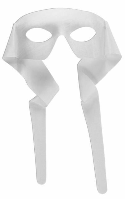 Masked Man Cloth Eye Mask White