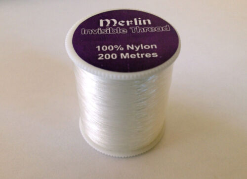 INVISIBLE MAGIC CLEAR SEWING THREAD NYLON QUILTING APPLIQUE BEADS 200M SPOOL
