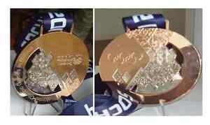 Sochi 2014 Olympic Medals Set + Silk Ribbons & Display Stands !!!
