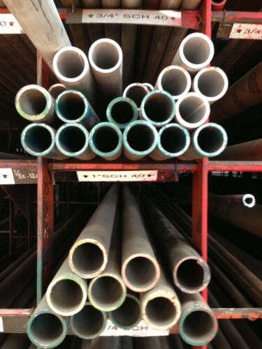 """1/"""" sch 40  304 Stainless Steel Pipe 90/"""" Pc"""