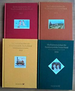 Jahrbuch-BRD-2011-2012-2013-2014-ohne-Marken-m-SD-u-Hologramm