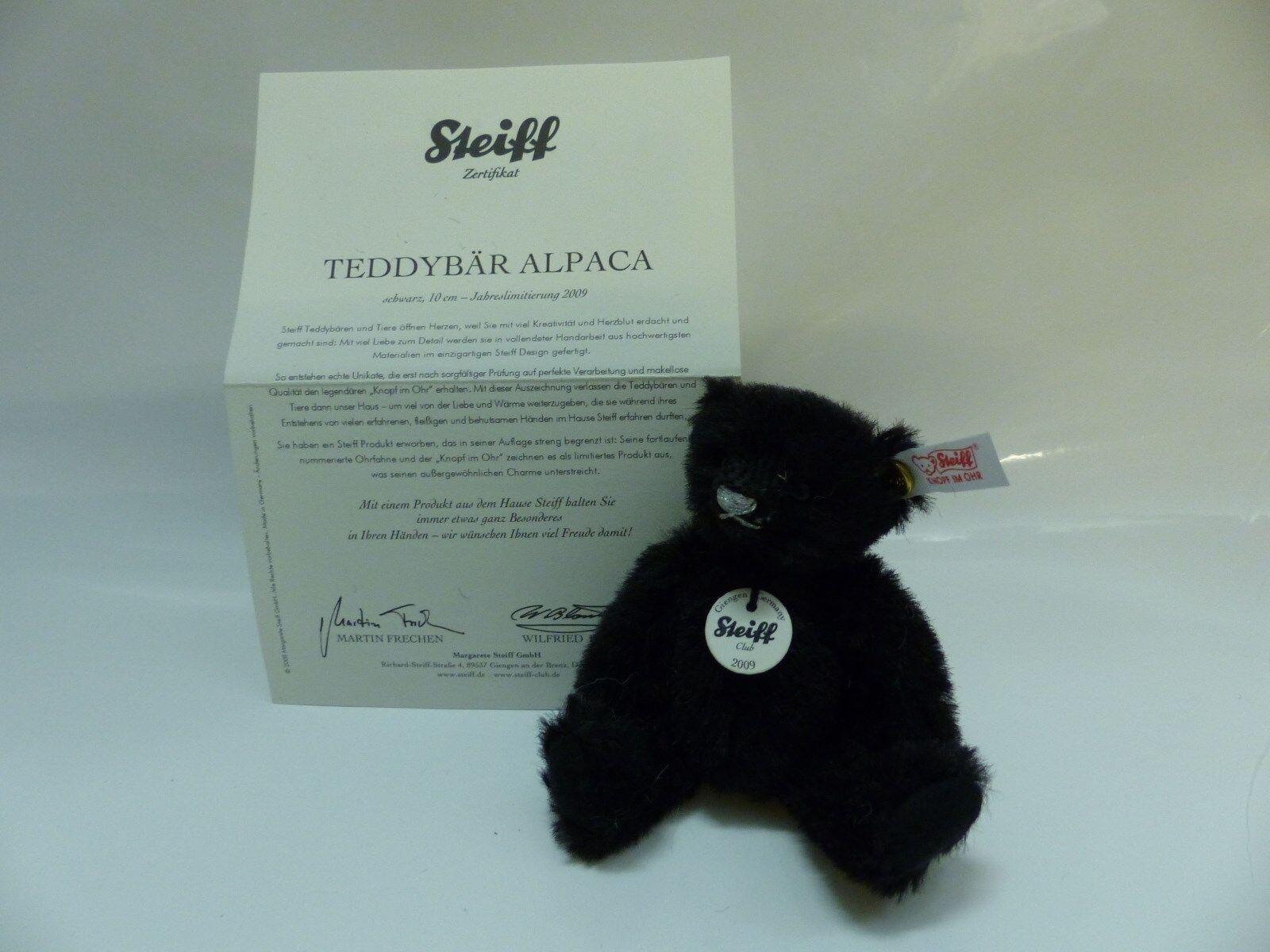Steiff Clubgeschenk Clubgeschenk Clubgeschenk 2009 Teddybär schwarz 10 cm EAN 420962 97ceb8