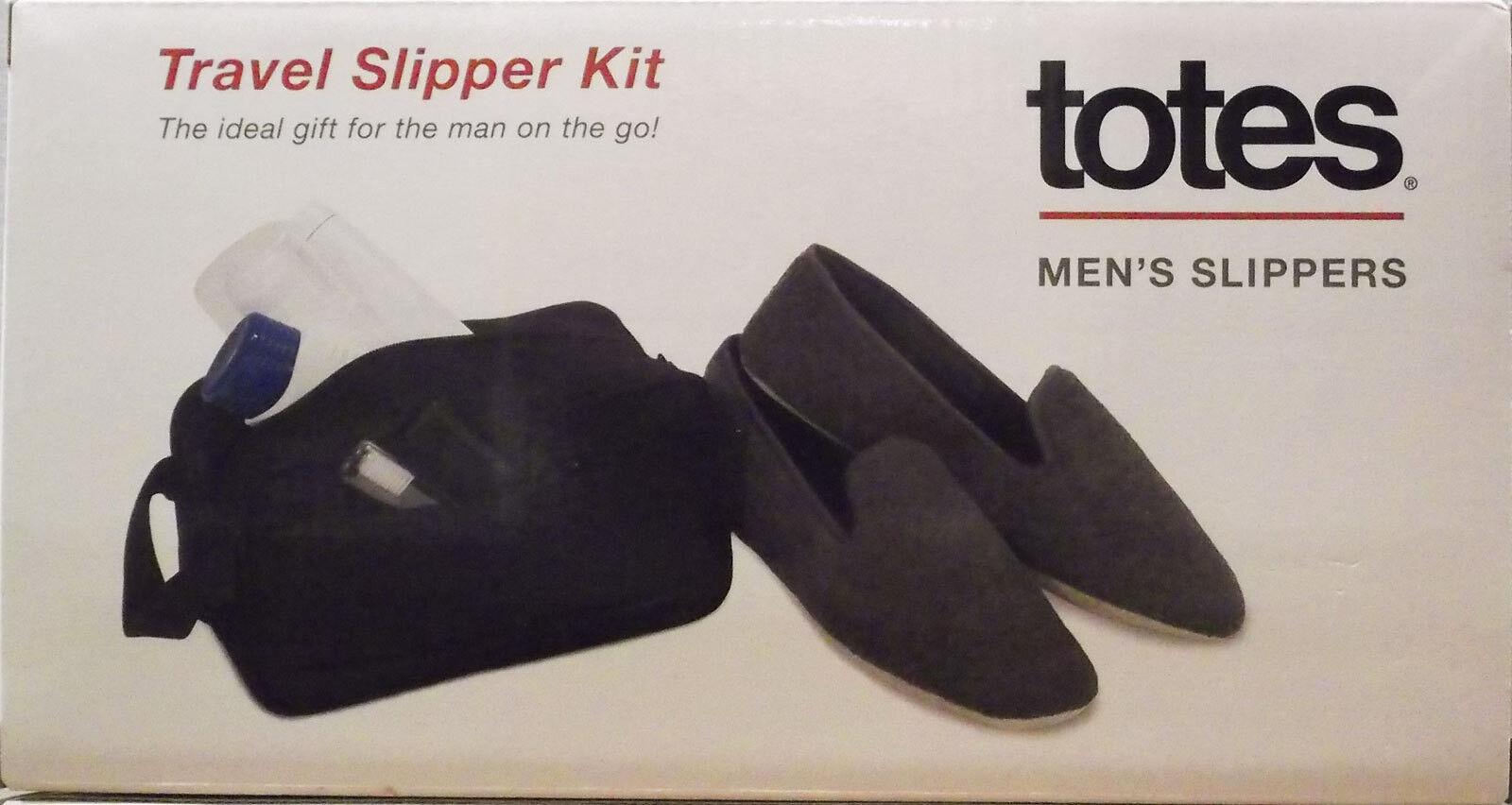 TOTE MENS  TRAVEL SLIPPER KIT SIZE MEDIUM  NEW IN BOX