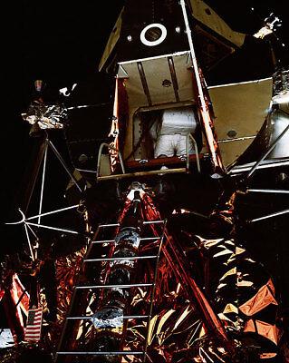 Apollo 11 Buzz Aldrin Lunar Module 11x14 Silver Halide Photo Print